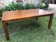 Table à manger en bois 200x120cm Bois tropical Meubles