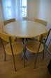 Table à manger & 4 chaises - Très bon état