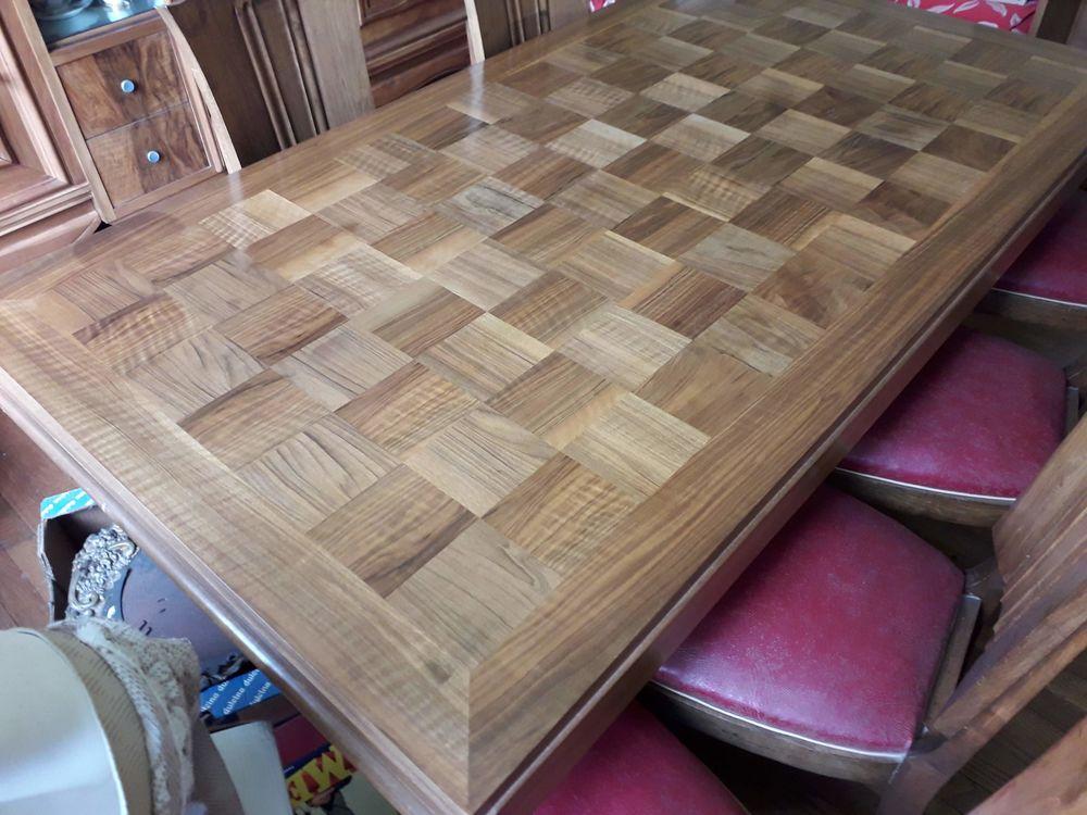 table à manger marquetée + buffet + chaises 400 Courpière (63)
