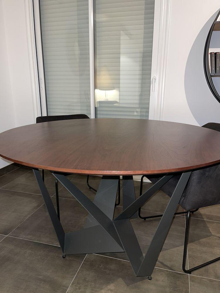 Table à manger ronde en bois 120cm achetée 304€ Meubles