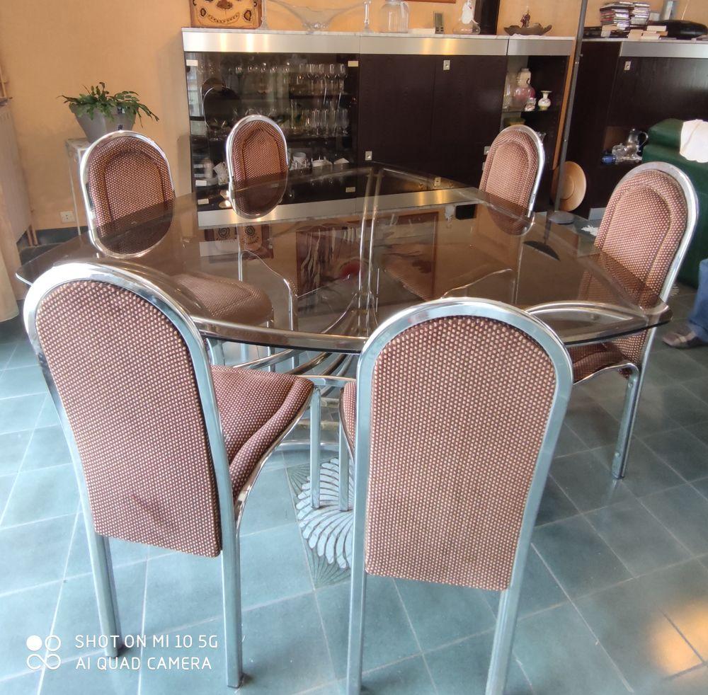 Table à manger en verre vintage avec 6 chaises 800 Courtry (77)