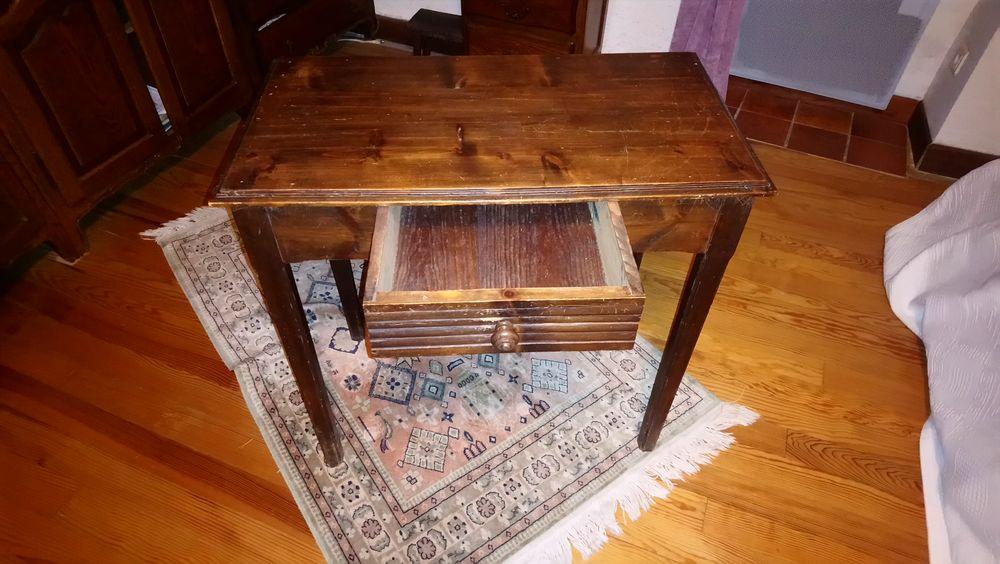 Table merisier avec tiroir central 40 Carlipa (11)