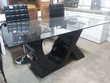 Table moderne plateau en verre