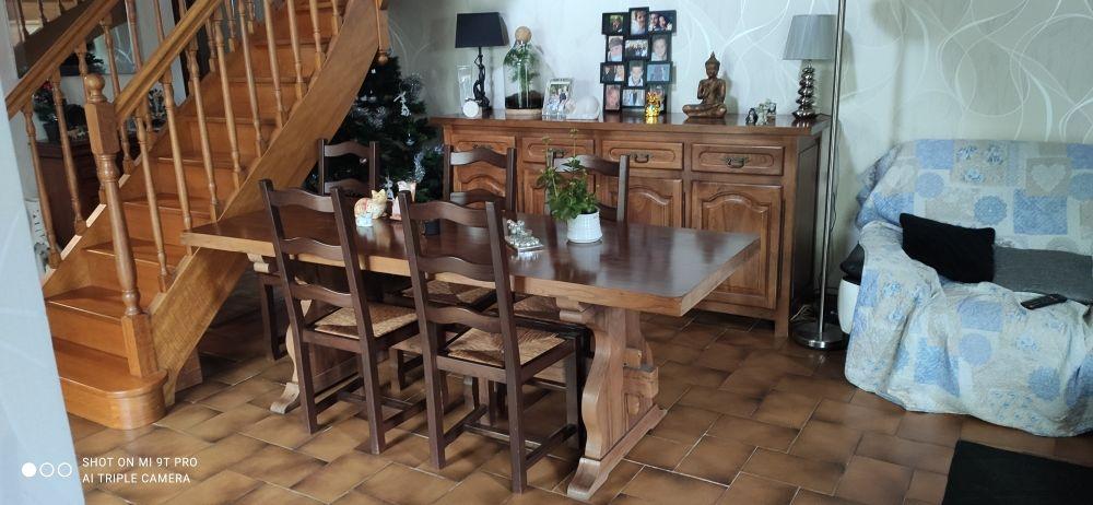 Table monastère en aulne massif avec 6 chaises 320 Bouguenais (44)