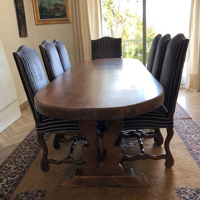 table monastère ,6 chaises et un fauteuil  os de mouton 600 L'Haÿ-les-Roses (94)