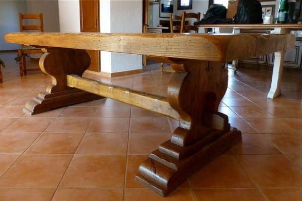 table monastère en chêne massif 1600 Puyricard (13)