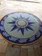 Table en mosaïque.