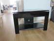Table TV noir laqué