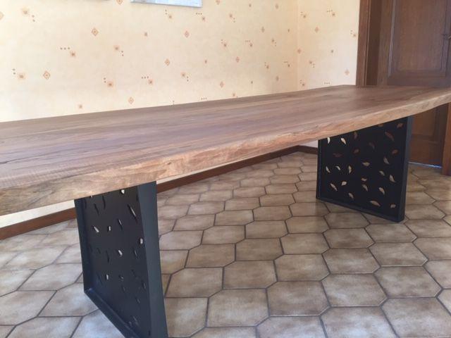 table noyer massif style industrielle 4250 Schwabwiller (67)