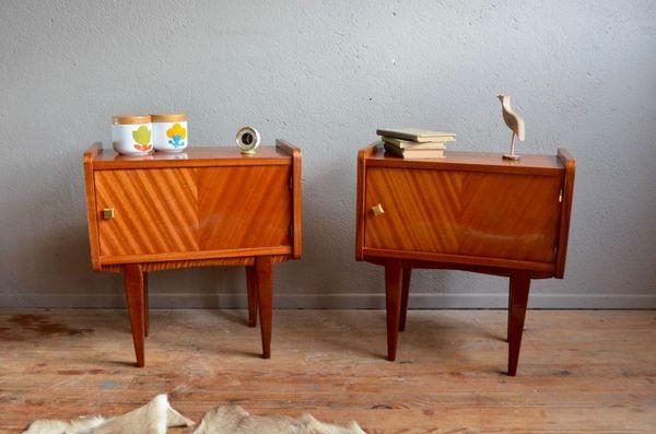 Achetez table de nuit paire occasion annonce vente wintzenheim 68 wb1517 - Table de chevet vintage ...
