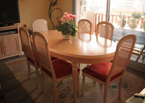 Achetez table ovale avec occasion annonce vente nice for Table avec rallonge integree