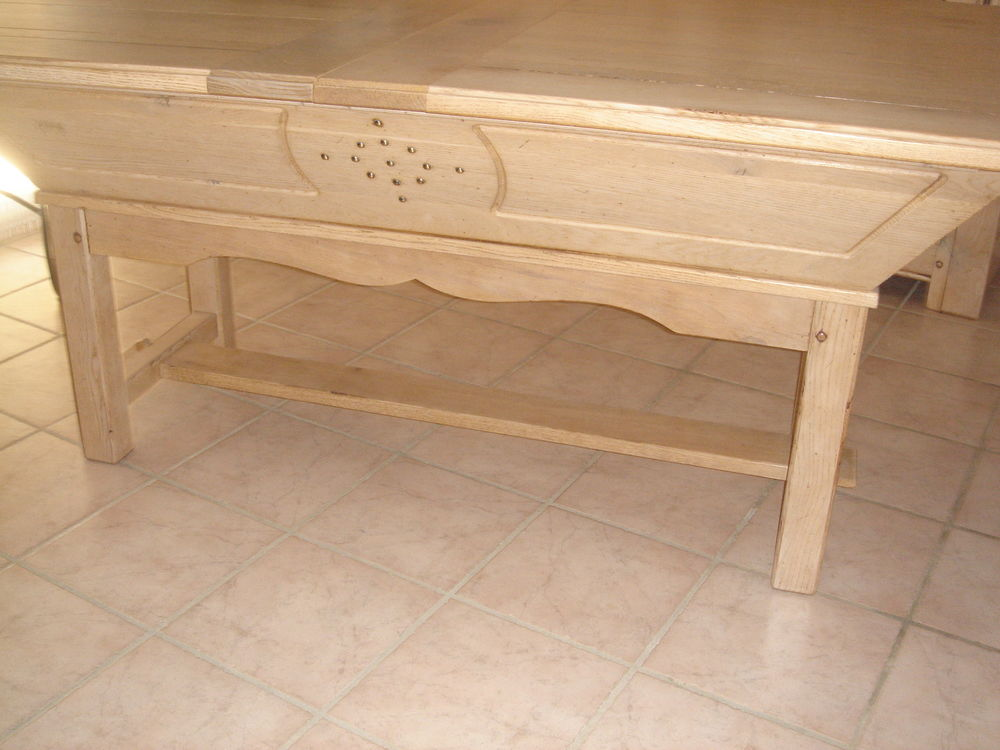 Table pétrin chêne massif  800 Fontanes (48)