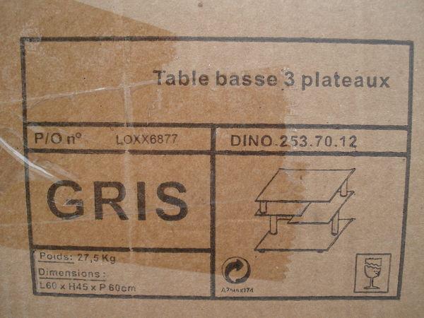 table 3 plateaux en verres amovible 80 Muel (35)