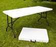 Table Pliante 180x76cm Pliable avec poignée
