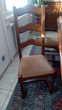 Table rectangulaire en chêne massif plus chaises Meubles