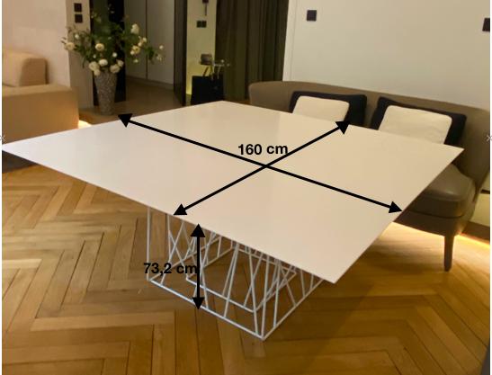 Table de repas carrée PORRO modèle Synapsis 4500 Lyon 6 (69)