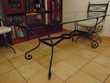 Table repas en verre, 4 chaises + 2 fauteuils Meubles