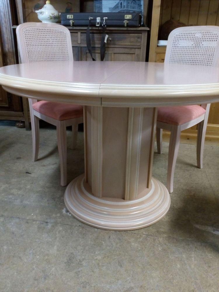 Table ronde 1 allonge+ 4 chaises cérusé 200 Toulouse (31)