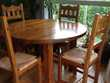 Table ronde avec rallonge meuble avec bar tabourets MASSIF Meubles