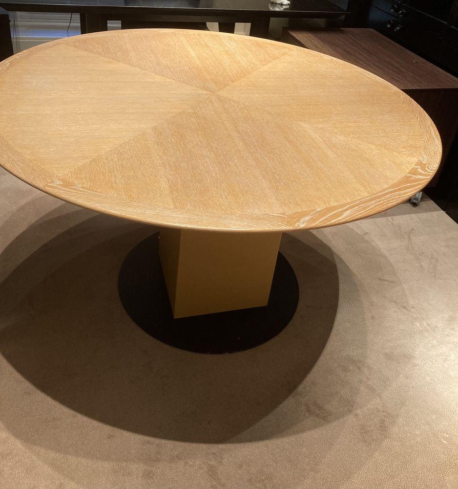 Table ronde en bois massif  cérusé 800 Boulogne-Billancourt (92)