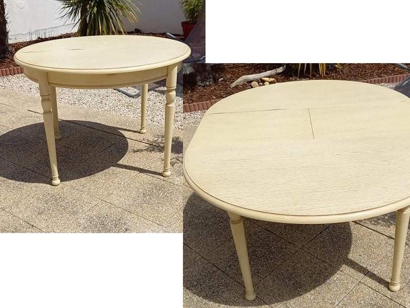 Table ronde bois avec 1 allonge 6/8 personnes 0 Rezé (44)