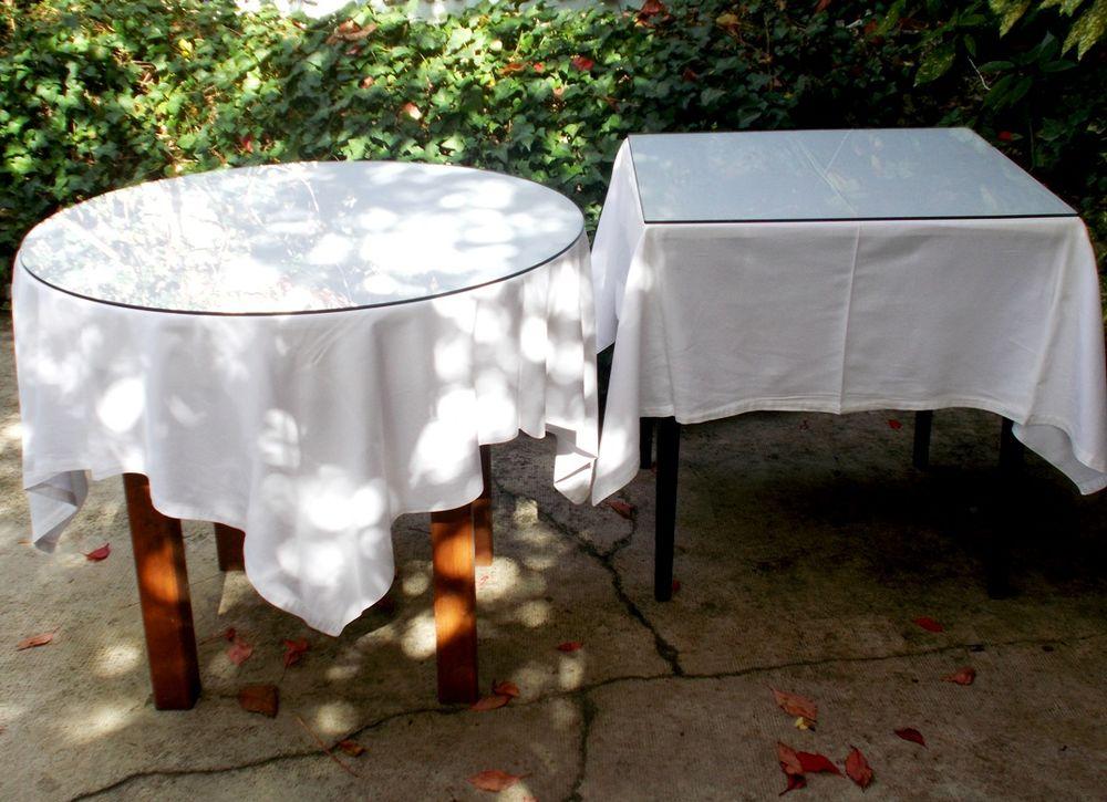 Table ronde, carrée + plateau en verre  75 Monflanquin (47)
