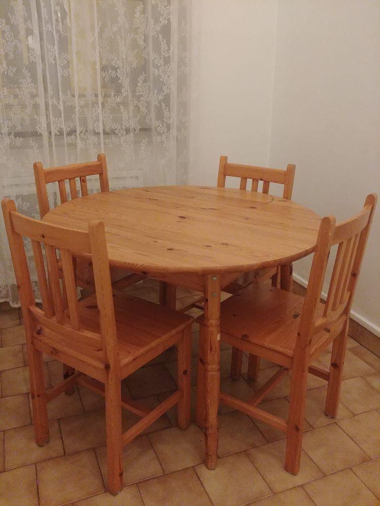 UNE TABLE RONDE + 4 CHAISES EN BOIS 80 Lyon 6 (69)