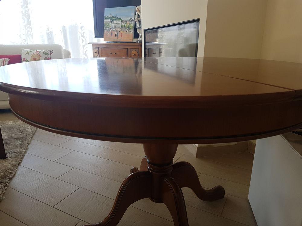TABLE RONDE DIAM. 120 + RALLONGE / MERISIER état NEUF  498 Bonneville (74)