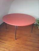 table ronde formica orange 50 Quimper (29)