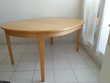 Table ronde ou ovale en bouleau, avec 2 rallonges Meubles
