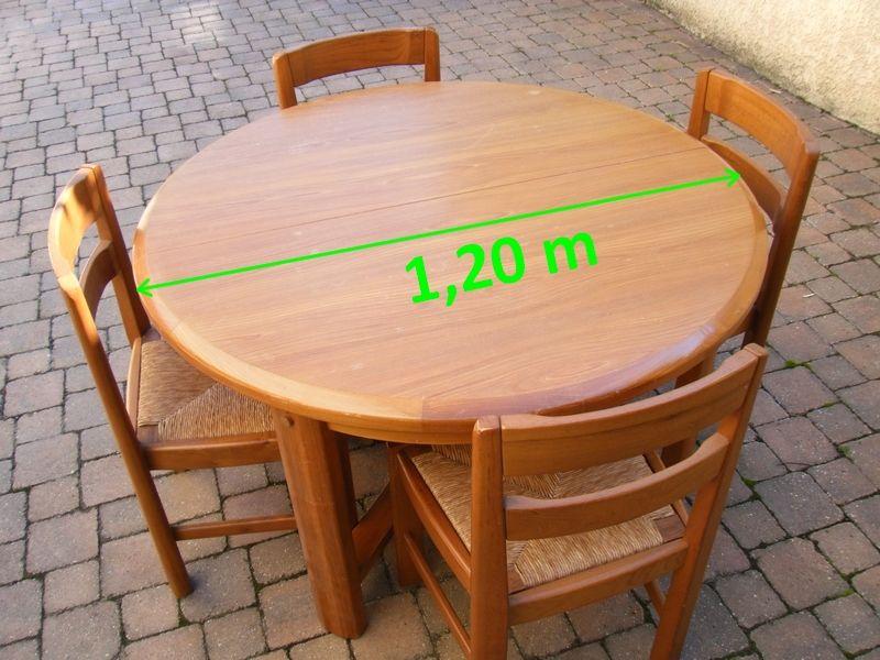 TABLE RONDE OU OVALE ORME CLAIR MASSIF 400 La Celle-sur-Morin (77)