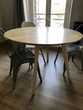 TABLE RONDE 4 pers. bois naturel style scandinave Meubles