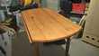 Table ronde pliable en pin diamètre 120 cm Meubles