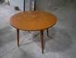 table ronde vintage avec rallonge pour devenir ovale 130 Carcassonne (11)