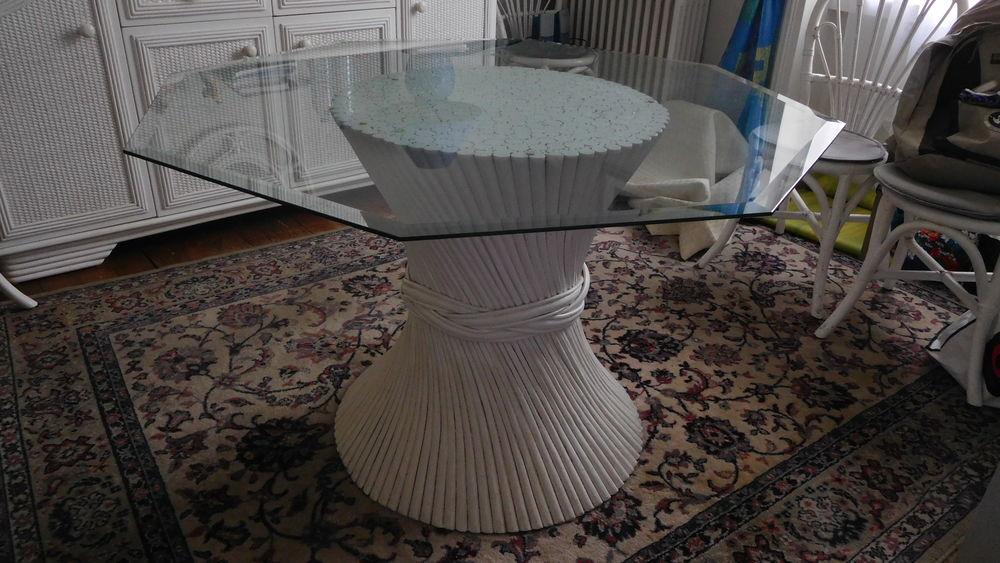 Table rotin blanc avec plateau + 6 chaises 0 Saint-Malo (35)