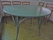 Table en rotin diam 1.20 6 personnes  0 Le Cap D Agde (34)