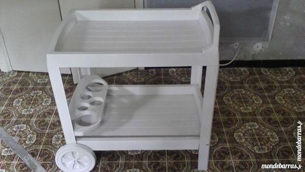 table roulante en plastique blanche 10 Allez-et-Cazeneuve (47)