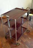 Table roulante/pliante Textable stratifié couleur acajou 50 Sartrouville (78)