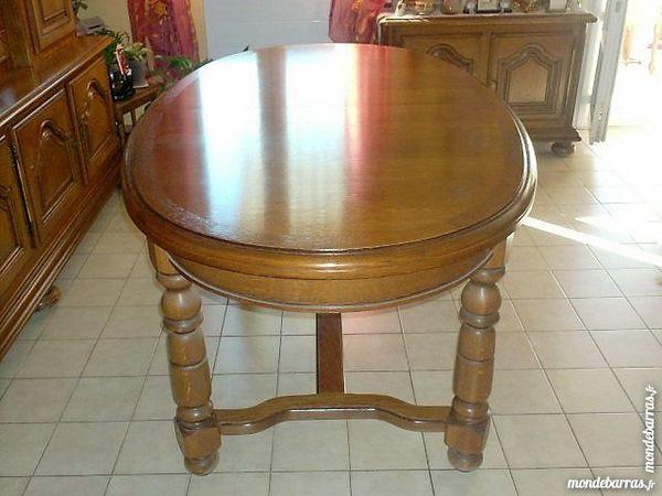 table rustique ovale plus 6 chaises assise paille 700 Fabrègues (34)