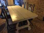 Table salle a manger peinte en blanc URGENT 100 77380 (77)