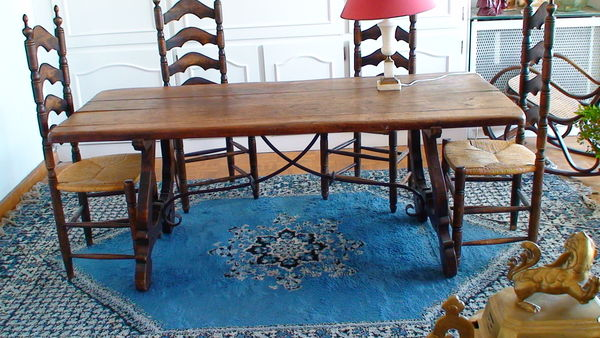 Tables en fer occasion dans le gard 30 annonces achat et vente de tables en fer paruvendu - Table salle a manger bois massif ...