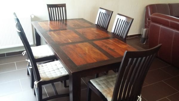 achetez table salle manger occasion annonce vente terville 57 wb153774120. Black Bedroom Furniture Sets. Home Design Ideas