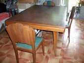 Table de Salle à manger + 6 chaises bois  Vintage  78 Bouxwiller (67)