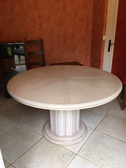 Table Salle A Manger Ronde Avec Pied Central