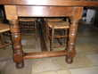 Table de salle à manger et ses 8 chaises en chêne massif Meubles