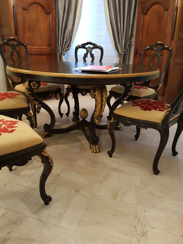 table de salle à manger baroque