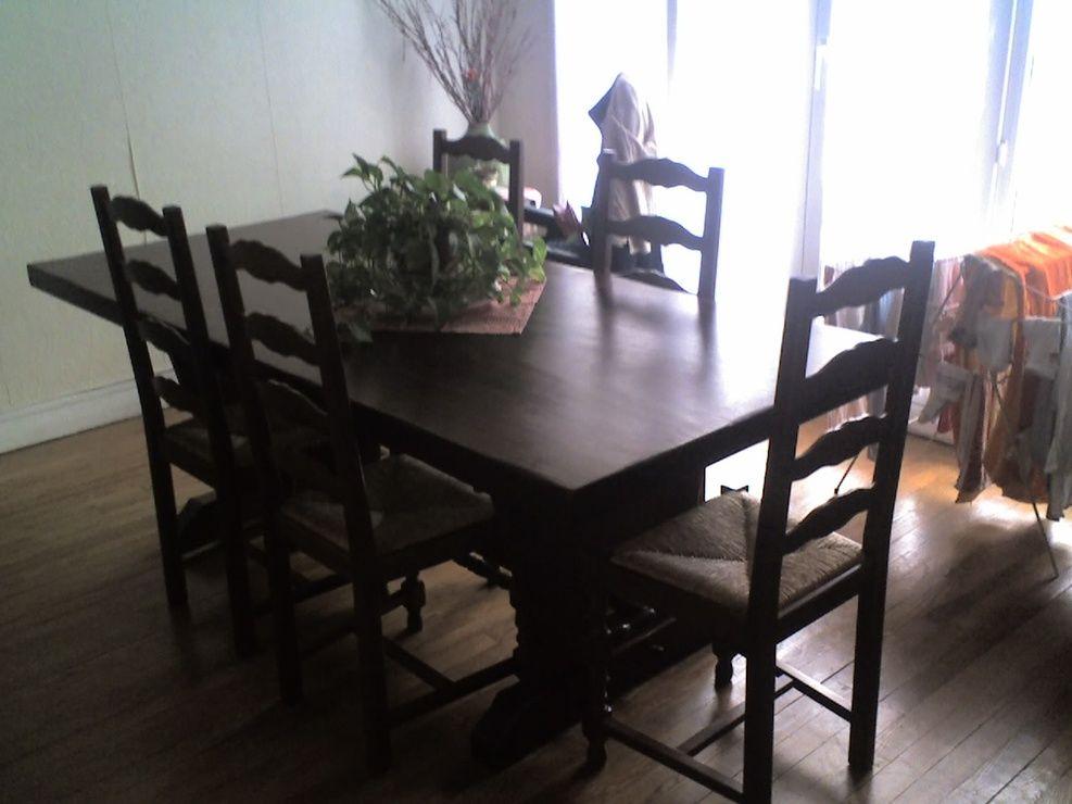 Table de Salle à Manger en bois-6 Chaises 0 Rueil-Malmaison (92)