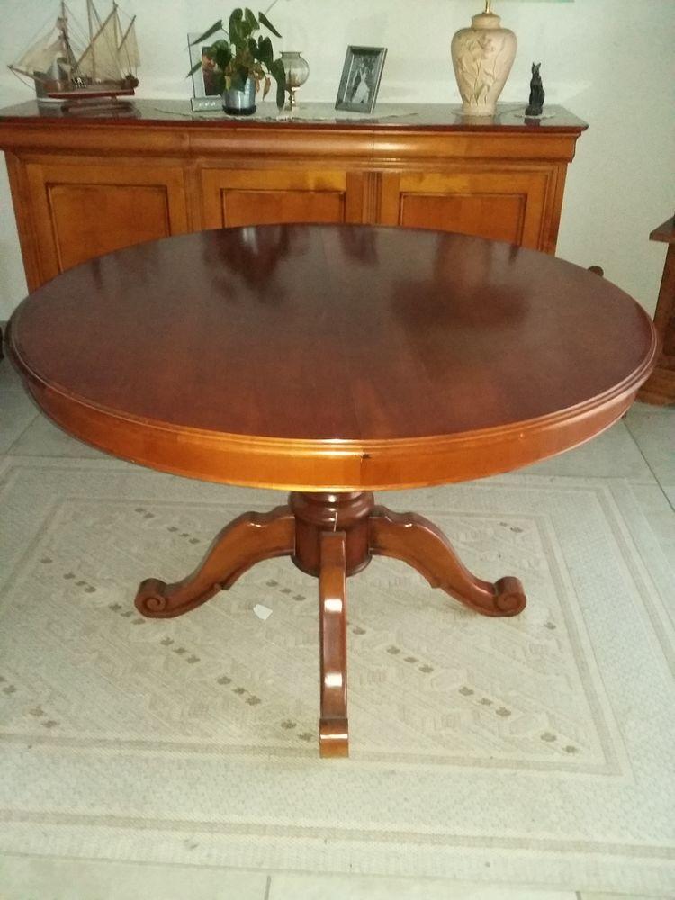 Table salle à manger ronde évolutive merisier 200 Lyon 7 (69)