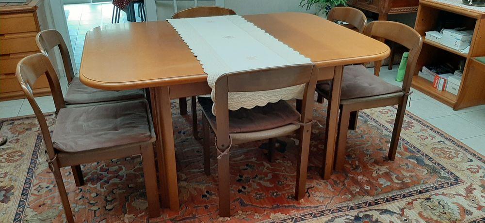 table de salle à manger avec rallonge intégrée et 6 chaises 80 Mons-en-Barœul (59)