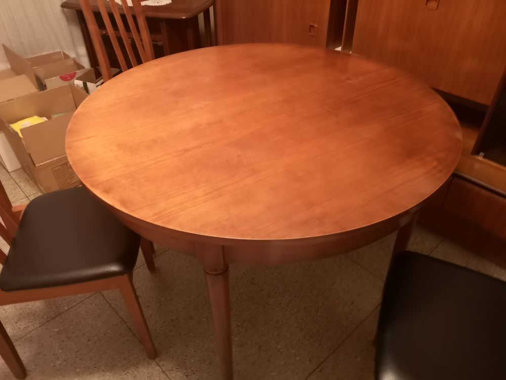Table de salle à manger avec rallonges et chaises 150 Marseille 4 (13)